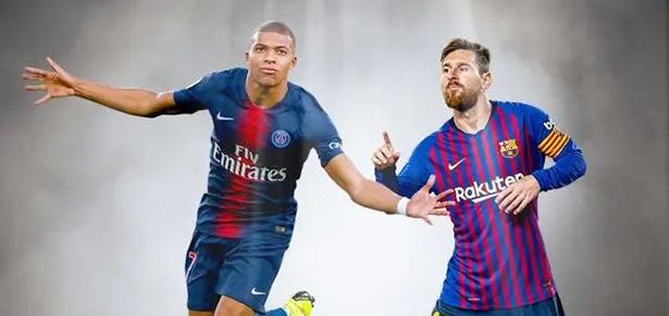 Mbappé por delante de Messi